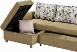 L-Form Gewebe-Sofa eingestellt mit Speicherung