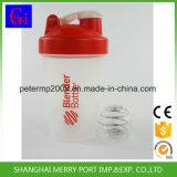 Copos de plástico baratos que medem o Copo de Proteína Shaker com bola de aço Stainess