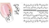 Modèle de note de musique bricolage Carnet d'onglet de transfert d'eau temporaire
