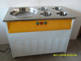Machine de crème glacée à la glace à plateau plat Round Tail