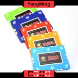 microplaqueta do póquer da argila do projeto da folha 12g com etiqueta feita sob encomenda para 760 PCS com caso de alumínio Ym-Sghg002 de Casio