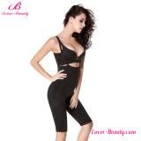 Hot Chic Cremallera Negro Strappy alta cintura cuerpo Shaper ropa interior