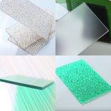 A alta qualidade do fornecedor de China coloriu a folha contínua geada policarbonato