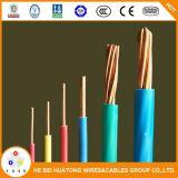 Cache en PVC Câble en cuivre Thw / Tw AWG 14 12 10 8 6 Câble électrique solide / échoué