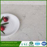 Pedra de vista de mármore branca de quartzo das vendas quentes com veias pretas