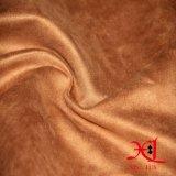 Tessuto di tintura normale 100% della pelle scamosciata degli indumenti del poliestere per il sofà