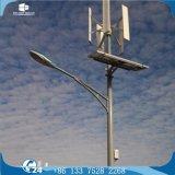 Alumbrado público solar del eje de la turbina del viento híbrido vertical LED de la red
