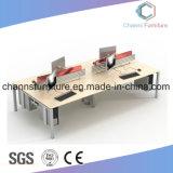 Sitio de trabajo cruzado opcional modificado para requisitos particulares del escritorio de la melamina de la oficina del color con el marco del metal blanco