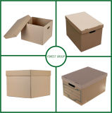 カスタム印刷を用いるAbフルート段ボール紙のStorgeのカートンボックス