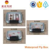 Caixa de equipamento impermeável plástica da pesca para a pesca de mosca e a pesca de ressaca