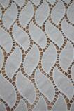 波状パターン刺繍デザインの2017年のポリエステルレースファブリック