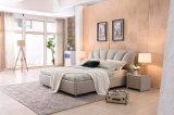 Кожи мебели спальни 2017 кровать самомоднейшей Shunde мягкая с Headboard