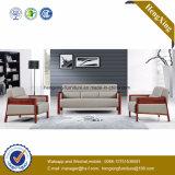 Sofa moderne de bureau de divan de cuir véritable de meubles de bureau (HX-CF017)