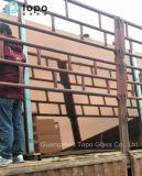 Feuille en verre de flotteur de construction avec la couleur rose spéciale (CP)