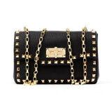 Il messaggero delle donne insacca la catena dorata Emg4769 del metallo della borsa della spalla del cuoio genuino