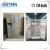 Стекло, цвет белый блеск холодильник со стороны боковой двери