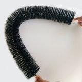 Cepillo de nylon material del canal del filtro de la limpieza del cepillo de la fibra sintetizada