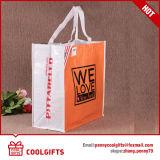 非編まれたPPによって薄板にされる袋、綿のキャンバス袋、より涼しいトートバック