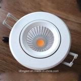 Nueva MAZORCA ajustable ligera LED Downlight de China LED del diseño abajo
