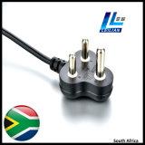 2/3-Round plugue do cabo de potência do Pin África do Sul