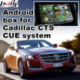 Android 4.4 навигационного GPS для Cadillac Cts и т.д. Cue System Video Interface окно обновления нажмите кнопку навигации, литого стекла, Mirrorlink, Карты Google