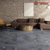 Para inyección de tinta rústico piso de cerámica esmaltada azulejo antideslizante para la decoración de interiores