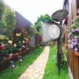 4 LED de luz solar Solar Iluminación Soptlight Jardín