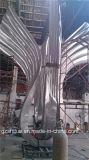 Les ailes argentées de la liberté, grande sculpture en acier inoxydable en métal, convient décoration à Outdoor Garden.Our Company se spécialisant dans la production du métal