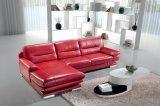 El italiano gran esquina salón cuero genuino Sbl-2755