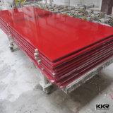 Feuilles extérieures solides pures acryliques de résine en pierre artificielle