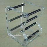 Memo de acrílico Cube com porta-canetas (BTR-H1024)