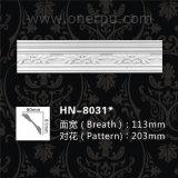 Cornicione decorativo del poliuretano per la parte superiore dell'unità di elaborazione del soffitto che modella Hn-8031