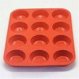 Прессформа шоколада силикона отверстий прессформы 12 силикона DIY круглая форменный