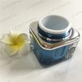 化粧品の包装のための正方形30gのBlue-Blackアクリルのクリーム色の瓶(PPC-ACJ-079)