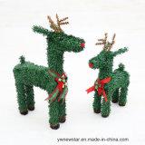 El Ciervo de Navidad Verde de PVC para la decoración de vacaciones