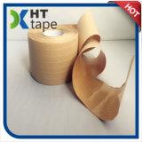 섬유에 의하여 Kraft 강화되는 접착성 종이 테이프