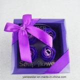 Boîte-cadeau romantique de fleur de savon de 4PCS Rose pour l'amoureux