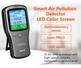 Hchoのための高品質Muti機能空気探知器及びTvoc及びPm2.5/Pm10