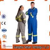 Combinaison chaude de vente des vêtements de travail r3fléchissants de combinaison de sûreté de coton