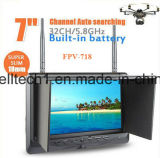 電池で構築される、32 CH AVの受信機7のインチTFT LCDのモニタ