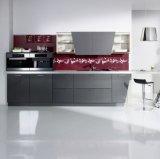 現代壁の台紙の二色の食器棚