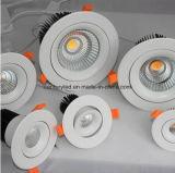 8 la MAZORCA blanca más nueva LED Downlight de la pulgada 60W con el recorte de 210m m