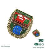 Emblema Militar de metal personalizado com o pino de segurança