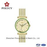 Кожаный кварцевые часы леди моды Vintage обычных аналоговых браслет Wristwatch
