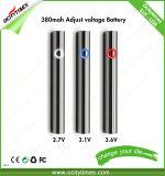 La penna 380mAh di Ocitytimes Vape del fornitore della Cina preriscalda la batteria con tensione registrabile per la cartuccia spessa dell'olio di Cbd Thc