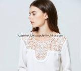 Новые моды принцесса режущий Sexy кружевом из скрытых полостей последней блуза