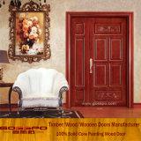 Puerta de entrada desigual de madera sólida de la puerta doble con la pintura (XS1-023)
