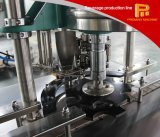 Máquina que capsula de relleno automática del fregado de las botellas de cristal para la leche del té del jugo