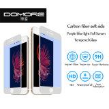iPhone6/6p/7/7p 이동 전화 부속품을%s 탄소 섬유 전화면 광택이 없는 자주색 파란 근거한 강철 보호 피막