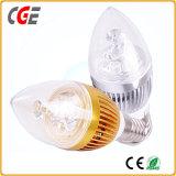 Ampoule chaude de filament de la forme DEL de bougie d'économie de vente
